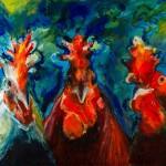 Drie hanen